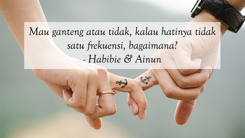 Kata Kata Cinta Bijak Romantis Habibie Ainun