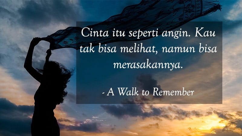 Kata Kata Cinta Bijak Romantis - A Walk to Remember