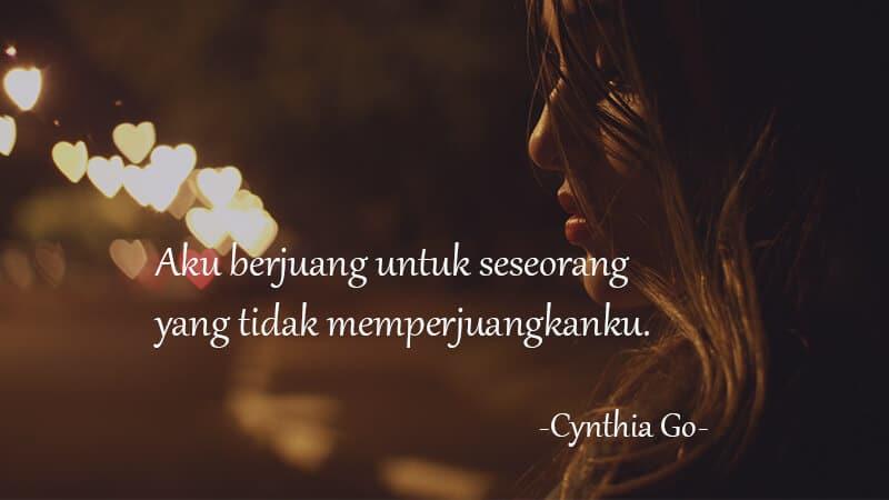 Kata Kata Galau Cinta - Cynthia Go
