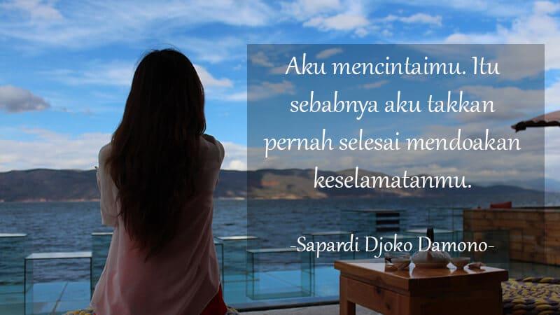 Kata Kata Motivasi Cinta - Sapardi Djoko Damono