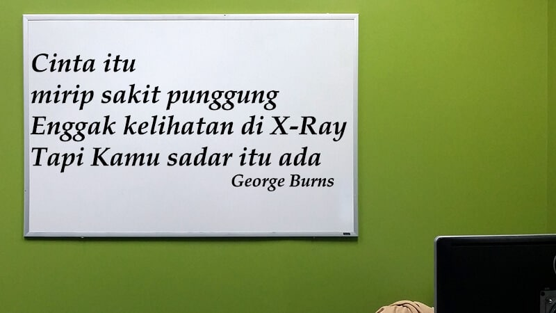 Kata kata romantis - George Burns