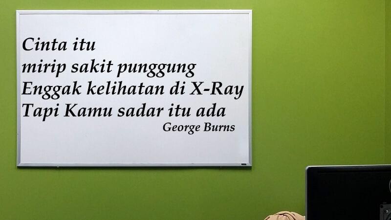 Kata kata romantis - George Burns
