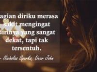 Kata Kata Sedih Tentang Cinta - Nicholas Sparks, Dear John