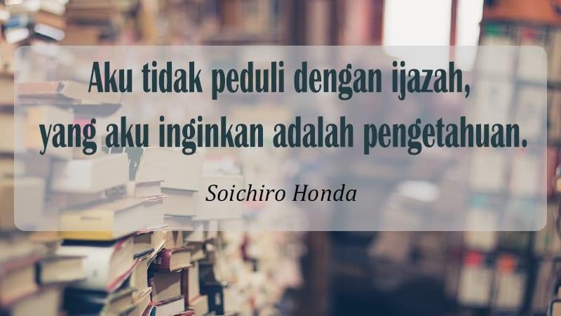 Kata kata motivasi diri - Soichiro Honda
