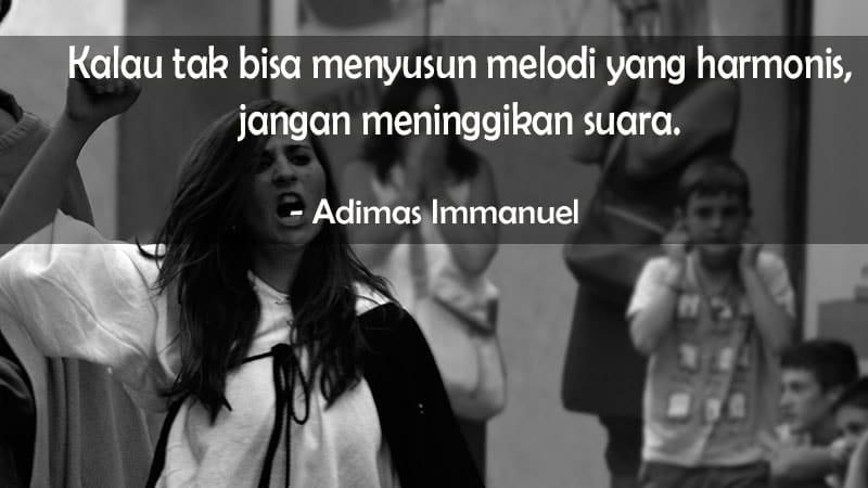 Kata kata sindiran cinta - Adimas Immanuel
