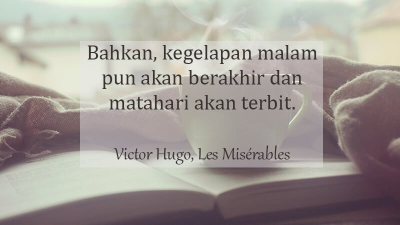 Kata Kata Indah Novel - Victor Hugo
