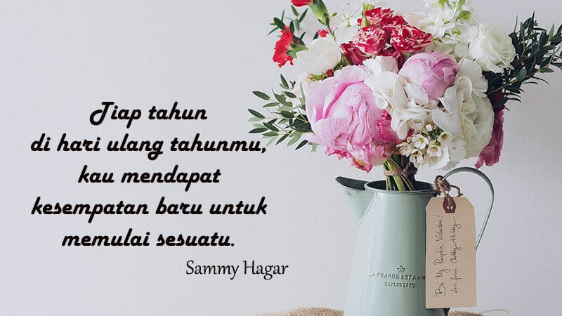 Ucapan Selamat Ulang Tahun untuk Orang Spesial - Sammy Hagar