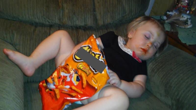 Foto foto bayi lucu - Ketiduran