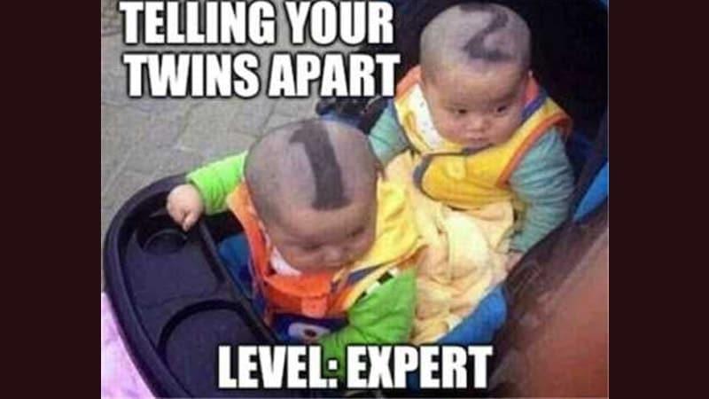 Foto Foto Lucu Banget Bikin Ngakak - Model Rambut untuk Anak Kembar