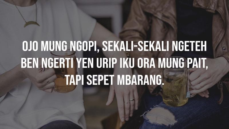 Kata Mutiara Bahasa Jawa Lucu - Minum Teh