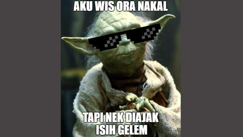 Meme Lucu Bahasa Jawa - Yoda