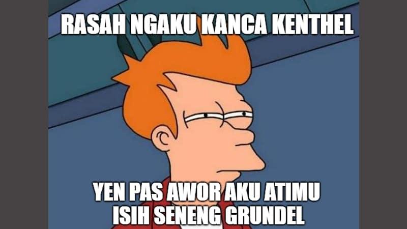 Meme Lucu Bahasa Jawa - Sinis