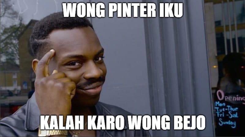 Meme Lucu Bahasa Jawa - Orang Pintar