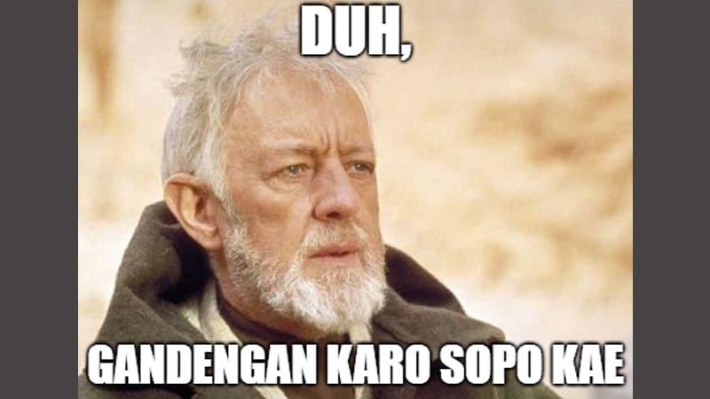 Meme Lucu Bahasa Jawa - Obi Wan