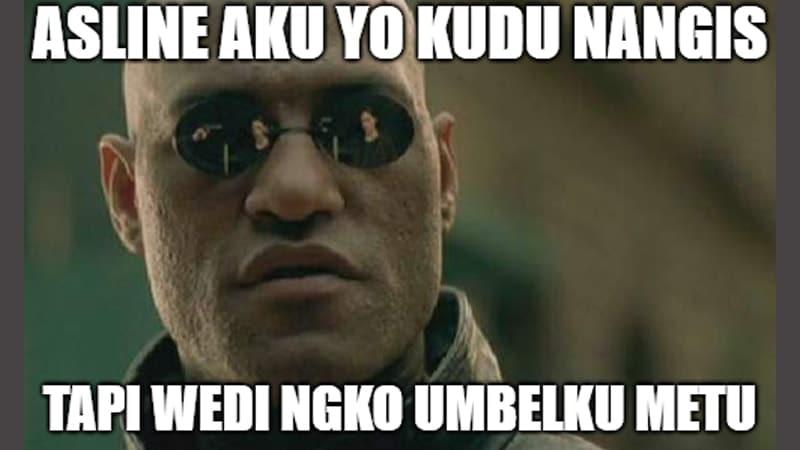 Meme Lucu Bahasa Jawa - Pria Berkacamata