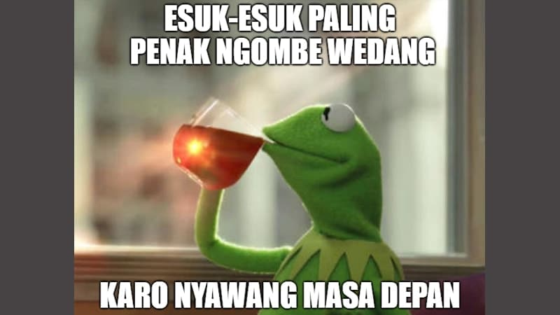 Meme Lucu Bahasa Jawa - Boneka Katak