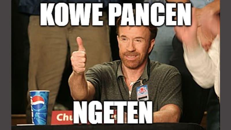 Meme Lucu Bahasa Jawa - Chuck Norris