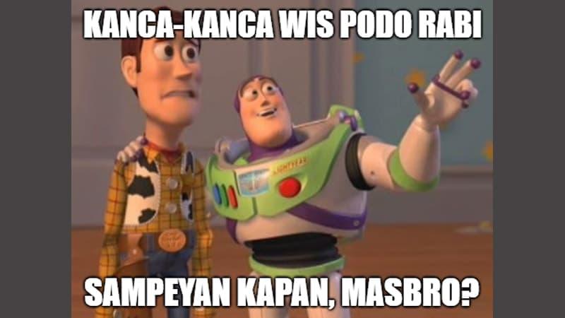 Meme Lucu Bahasa Jawa - Toy Story