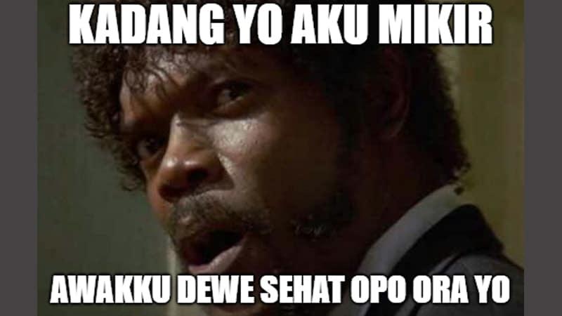 Meme Lucu Bahasa Jawa - Meme Mikir