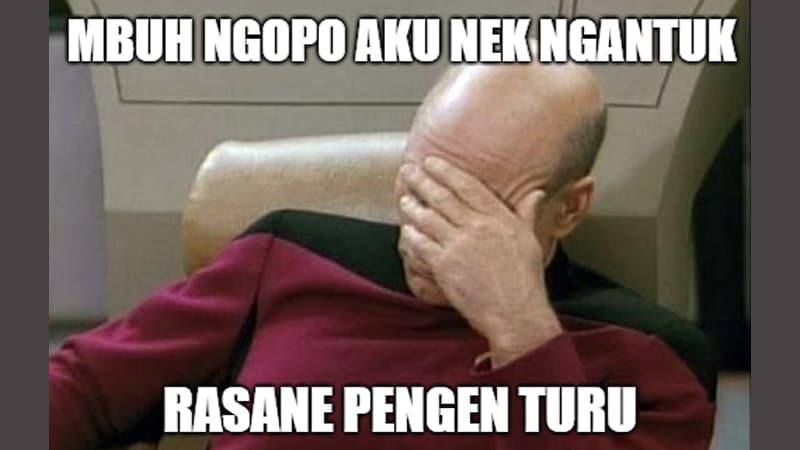 Meme Lucu Bahasa Jawa - Mengantuk