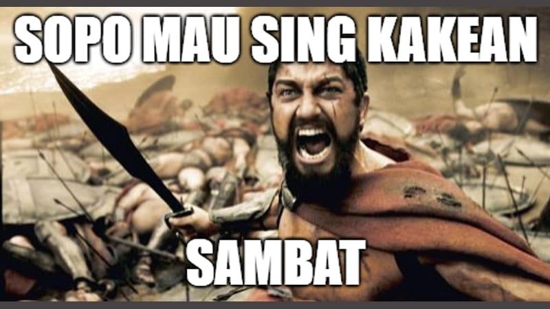 Meme Lucu Bahasa Jawa - Meme Spartan