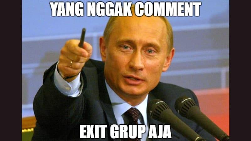 Meme Lucu buat Komen - Meme Vladimir Putin