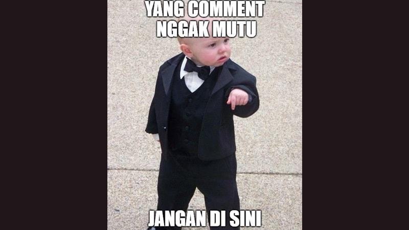 Meme Lucu buat Komen - Meme Balita Berjas