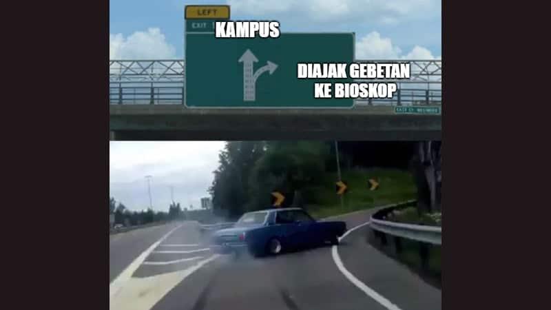 Meme Lucu buat Komen - Meme Mobil Belok Mendadak