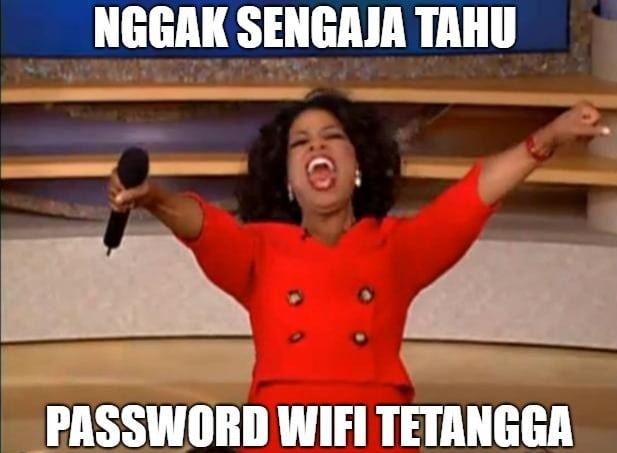 Kumpulan meme lucu banget - Wifi tetangga