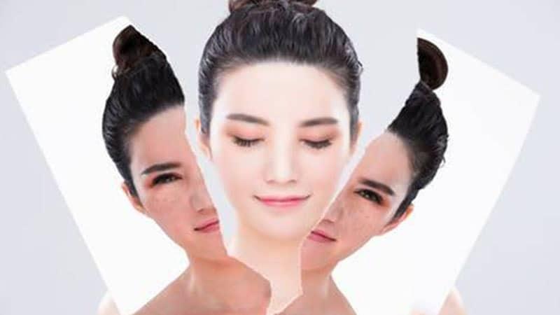 Cara Memutihkan Wajah dengan Cepat - Wajah Perempuan Terbelah