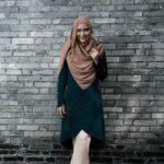 Tutorial Hijab Pashmina Simple - Pashmina Coklat