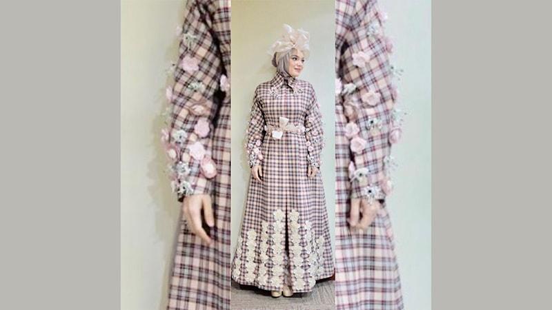 15 Model Baju Gamis Modern Terinspirasi Dari Artis Kepogaul