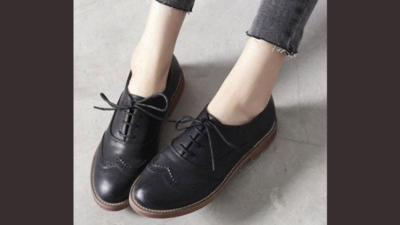 Sepatu pantofel wanita modern - Oxford