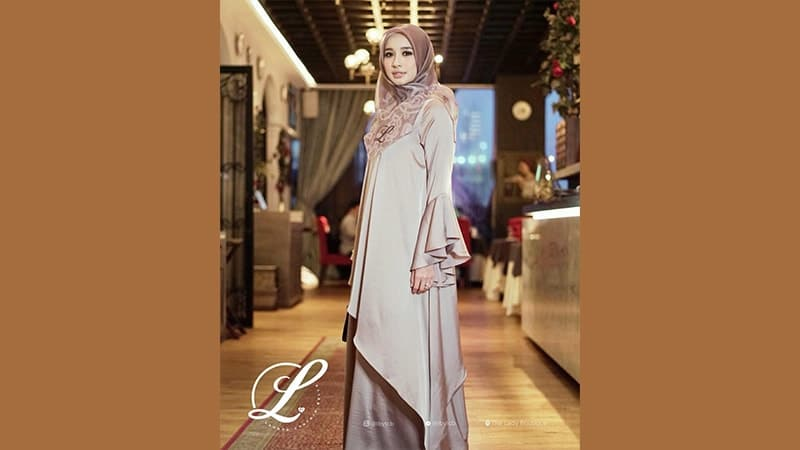 Model Baju Gamis Modern - Laudya Cynthia Bella