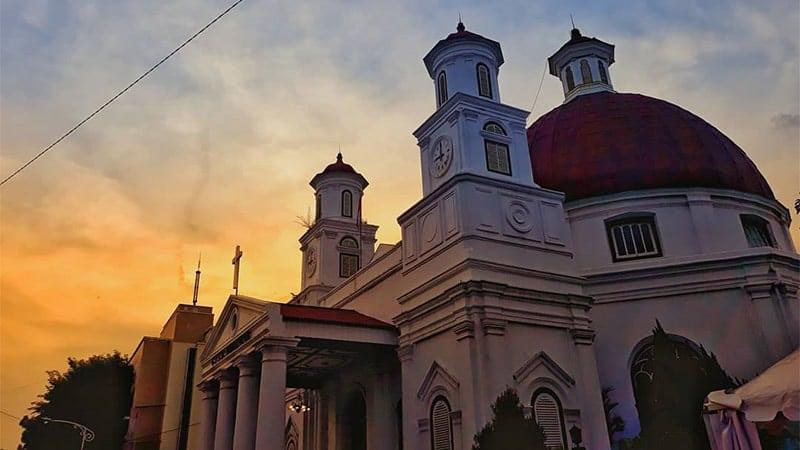 Tempat Wisata di Semarang - Gereja Blenduk Kota Lama