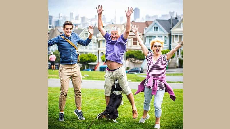 Foto anjing lucu banget - Foto keluarga yang epik