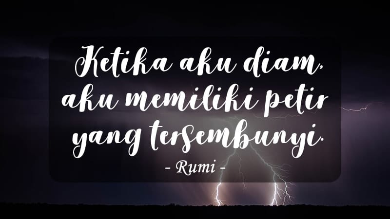 Kata-Kata Marah Kecewa - Rumi
