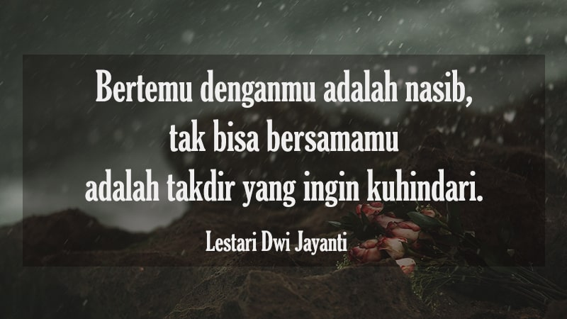 Kata-Kata Penyesalan Cinta - Lestari Dwi Jayanti