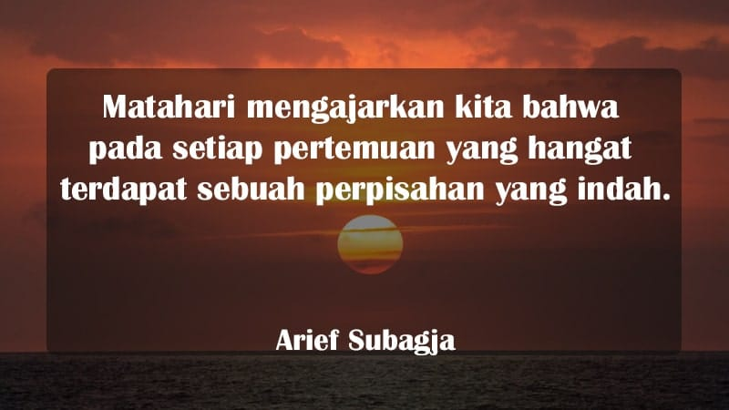Kata-Kata Perpisahan Cinta - Arief Subagja