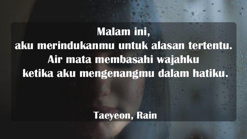 Kata-Kata Perpisahan Cinta - Taeyeon