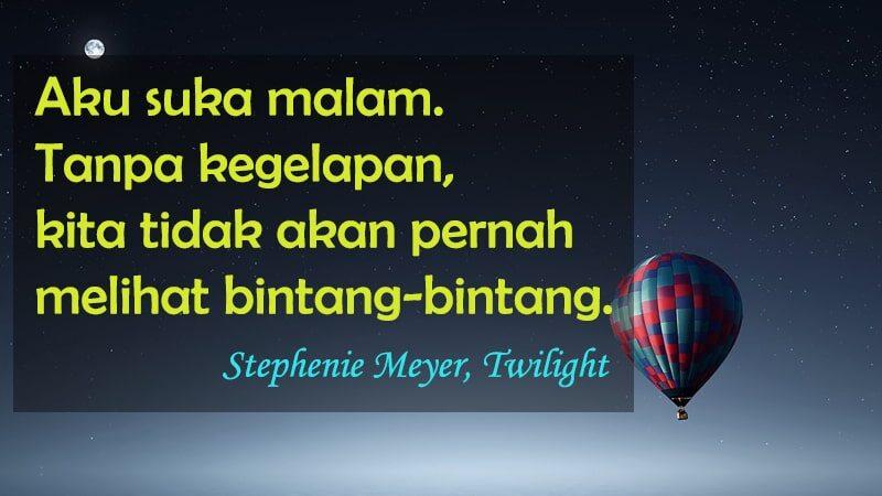 Ucapan Selamat Tidur buat Pacar yang Jauh - Stephenie Meyer Twilight