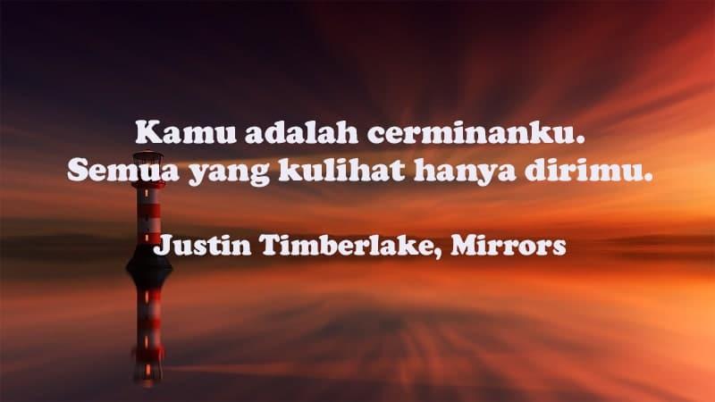 Kata-Kata Bahagia Bersama Pacar - Justin Timberlake