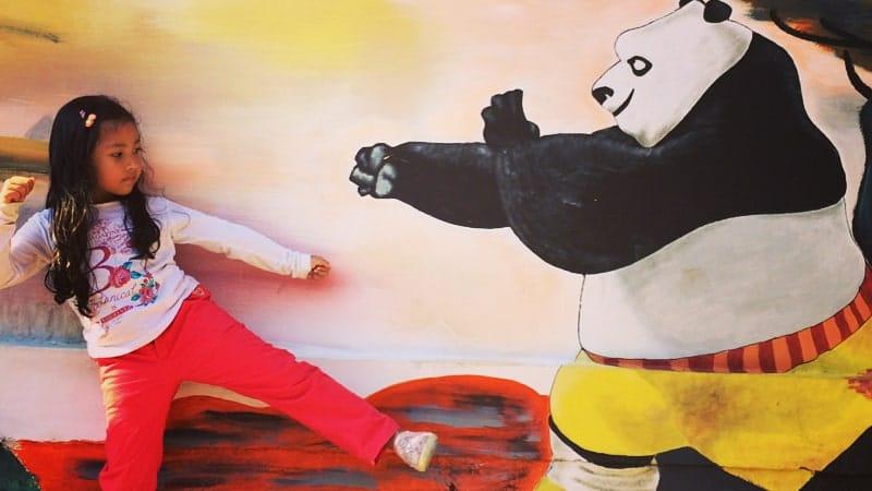 Kampung Pelangi Semarang - Kung Fu Panda