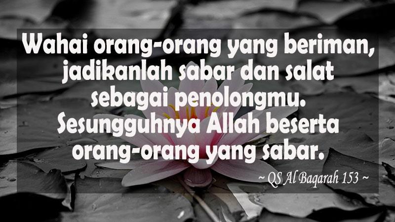 Kata-Kata Mutiara Islam - QS Al Baqarah 153