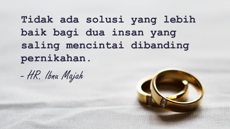 Kata-Kata Mutiara Cinta Islami - HR. Ibnu Majah