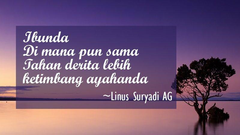 Puisi Singkat tentang Ibu - Linus Suryadi AG