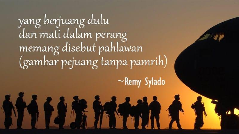 Contoh Puisi tentang Pahlawan - Remy Sylado