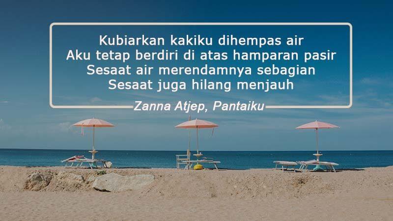 contoh puisi pendek tentang alam - pantai