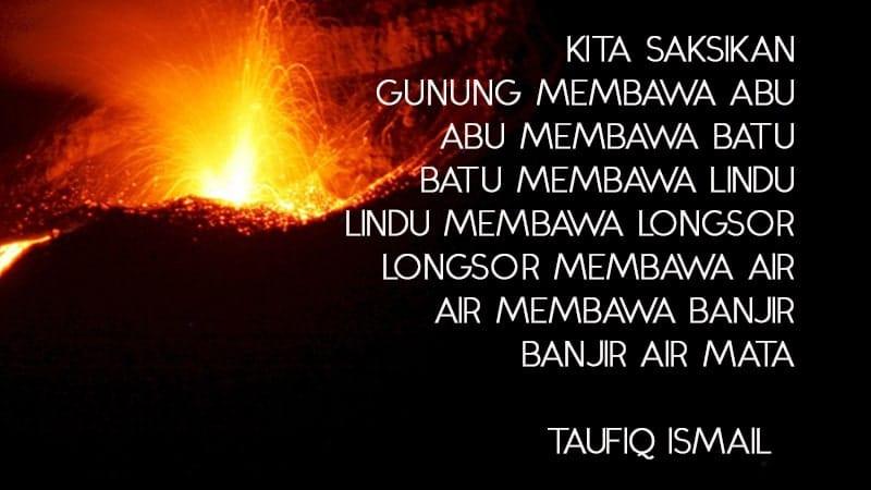 Puisi tentang Bencana Alam - Taufiq Ismail