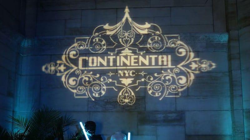Film John Wick 3 - Logo Hotel Continental NYC